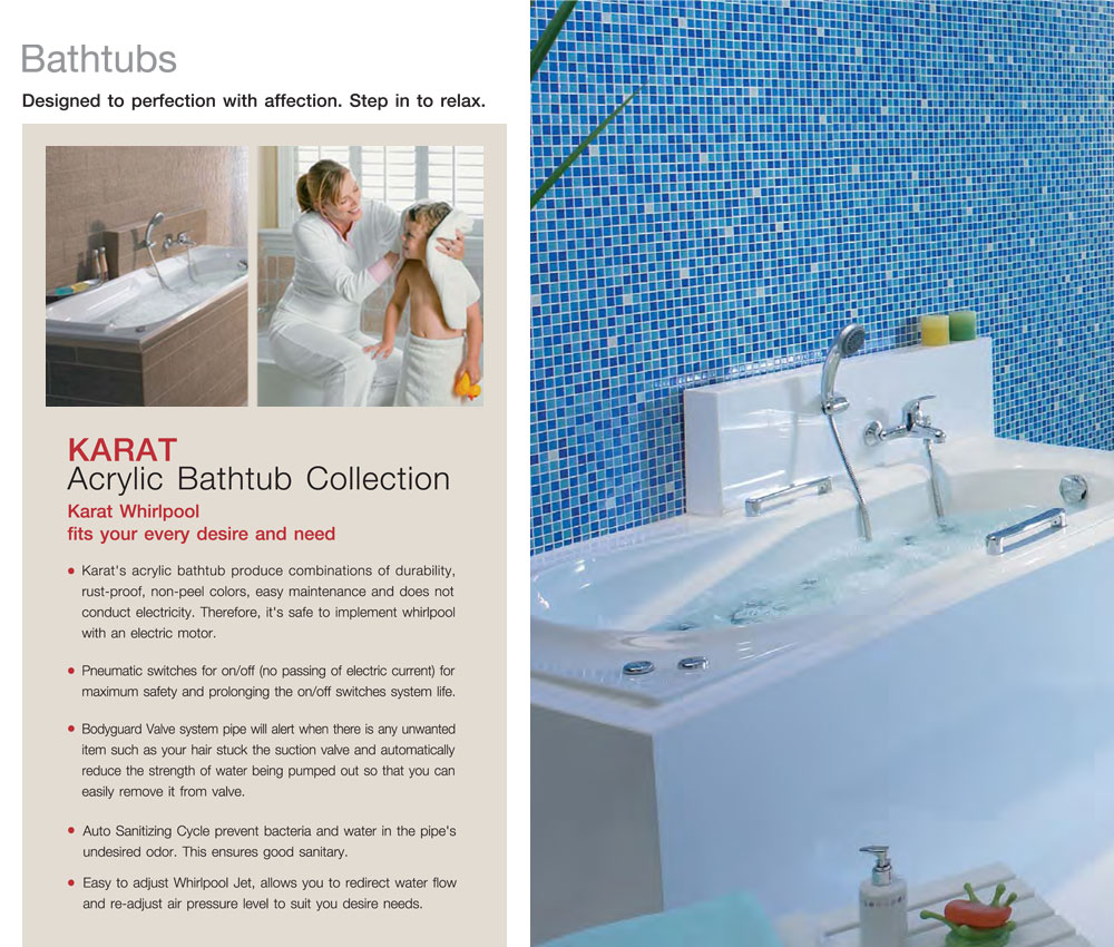 Karat Sanitarywear: Bathtubs